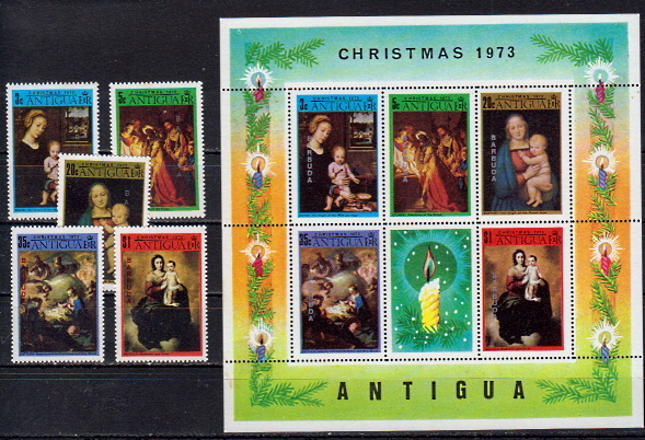 Briefmarken Antigua und Barbuda 305-09 ** + Block 9 **