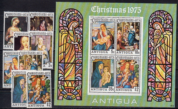 Briefmarken Antigua und Barbuda 388-95 ** + Block 23 **