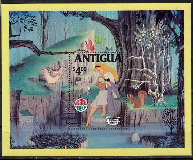 Briefmarken Antigua und Barbuda Block 52 **