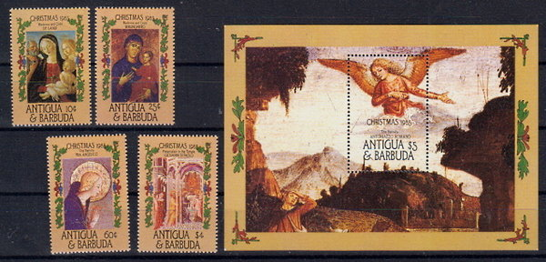 Briefmarken Antigua und Barbuda 915-18 ** + Block 104 **
